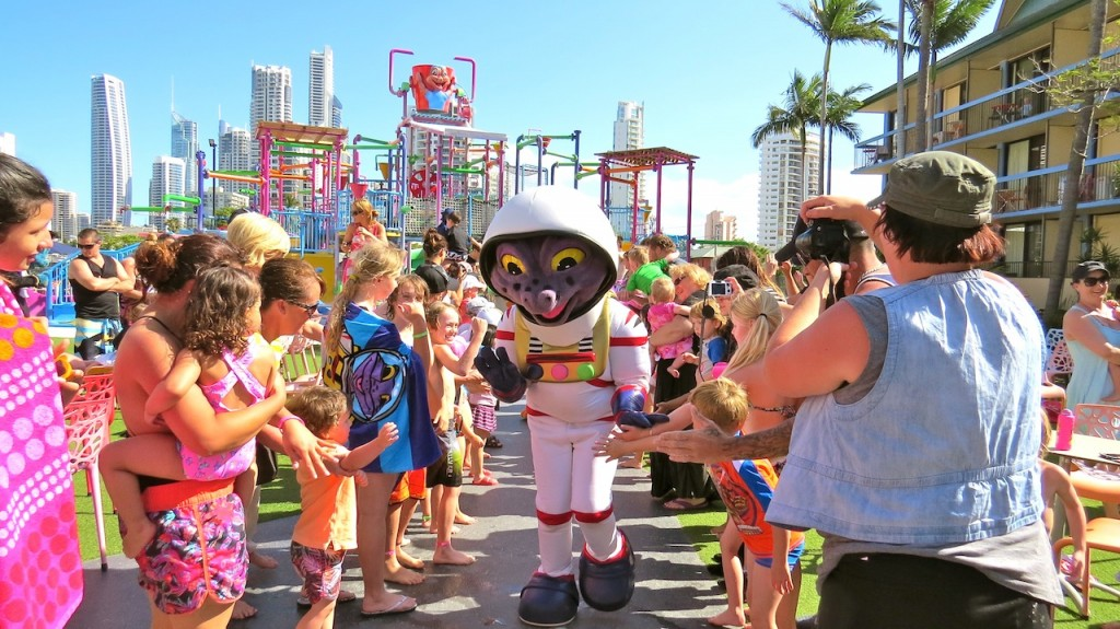 "One of the characters, ""Astro"" at Zagame's Paradise Resort"