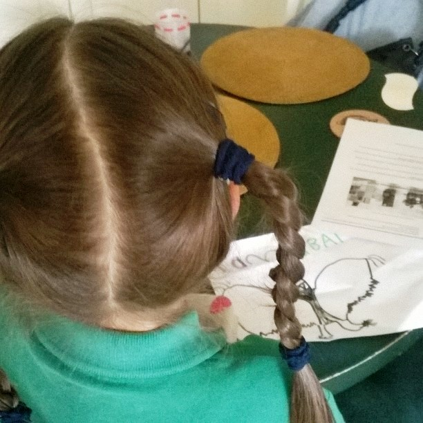 Natasha working on the artwork for Togethimals